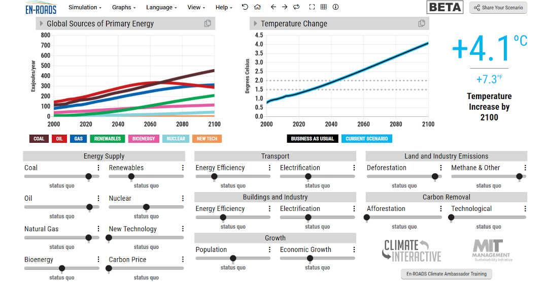 EN_ROADS Climate Simulator
